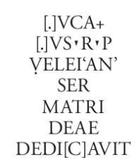 Veleian ara textua