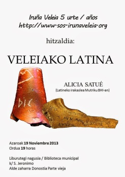 Veleiako latina. Alicia Satue