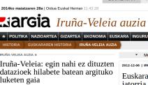 Iruña Veleia auzia Argia